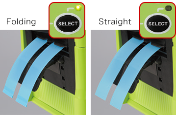 Easy to change the function for folding and normal cutting.